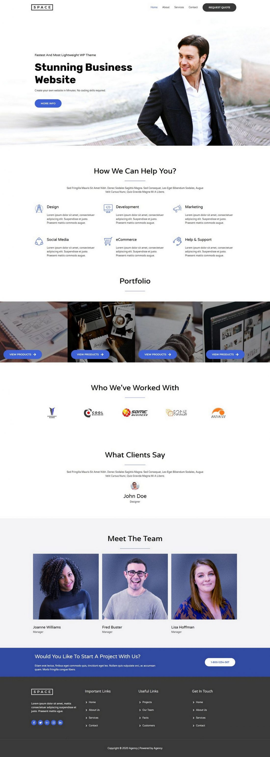 Fagowi.com Website Design Templates For Agency S Multipurpose - Home Page Image