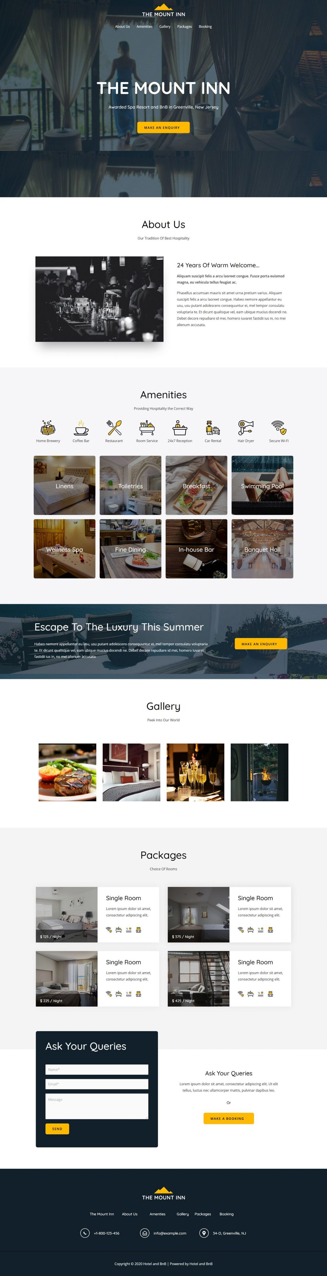 Fagowi.com Website Design Templates For Hotel or BNB - Home Page Image