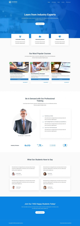 Fagowi.com Website Design Templates For Learndash Online Courses - Home Page Image
