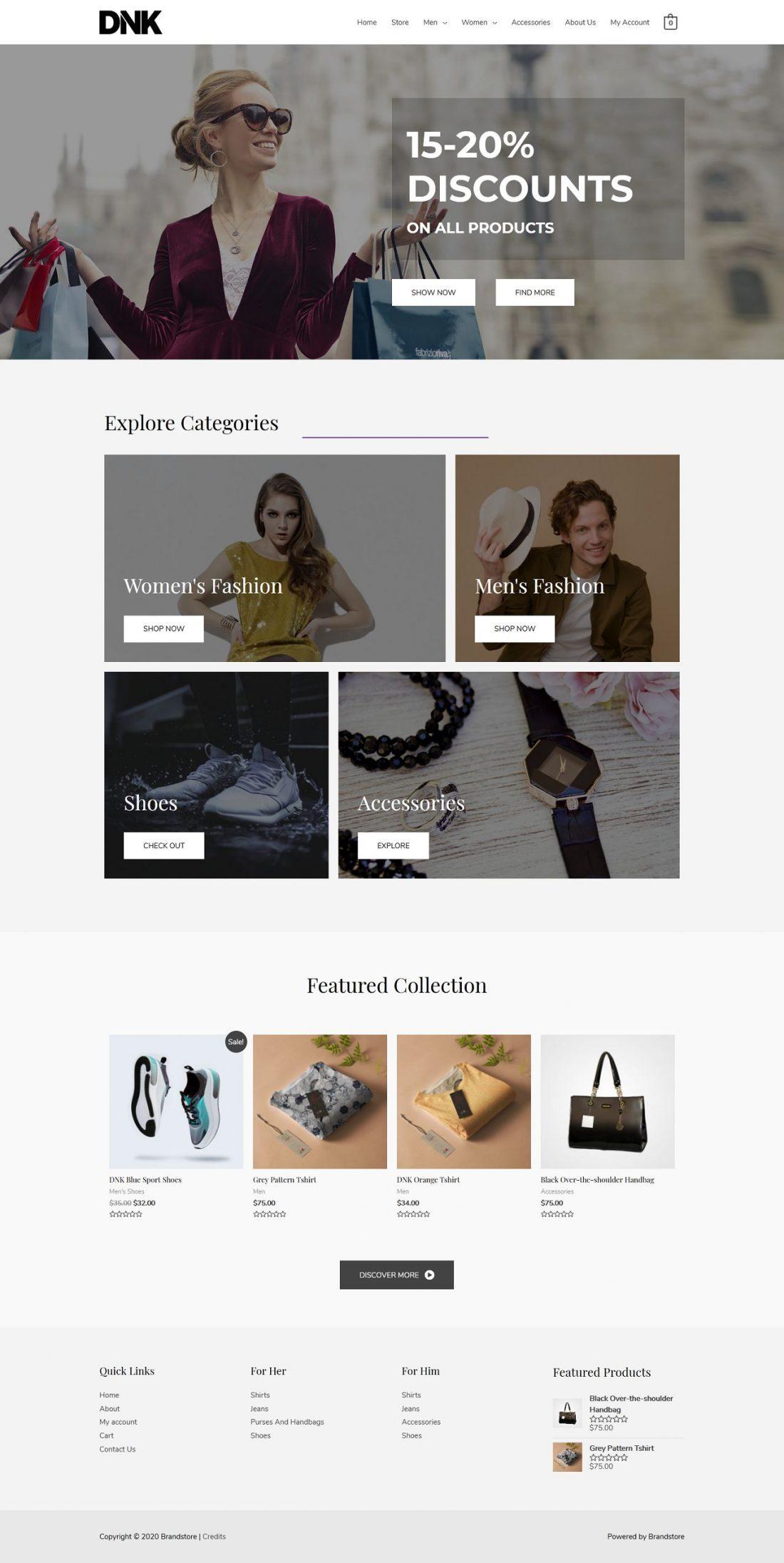 Fagowi.com Website Design Templates For eCom Brand S Online Shop - Home Page Image