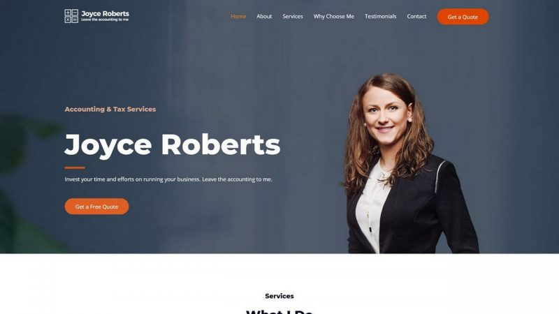 Accountant Home Page 1280 x 720