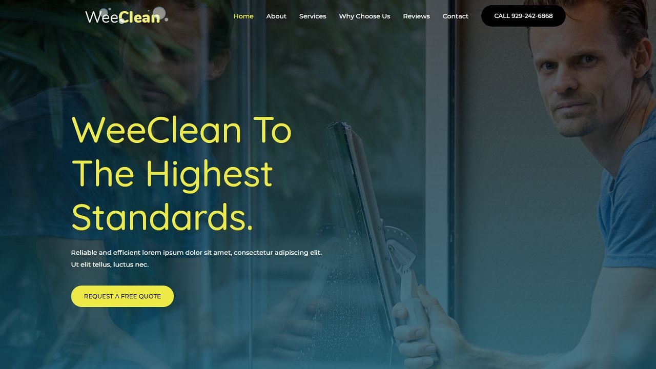 Cleaning Agency - Home Page 1280 x 720