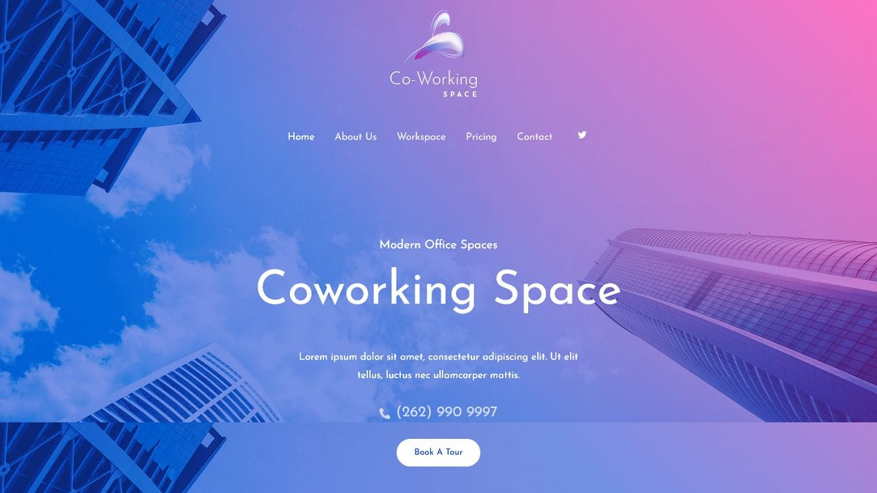 Co-Working Spaces A Home Page 1280 x 720