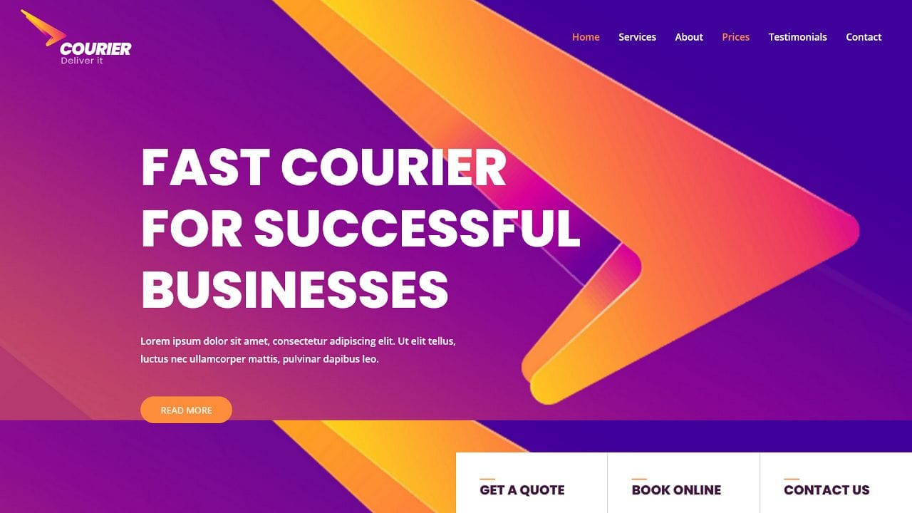 Courier and Delivery Service - Home Page 1280 x 720