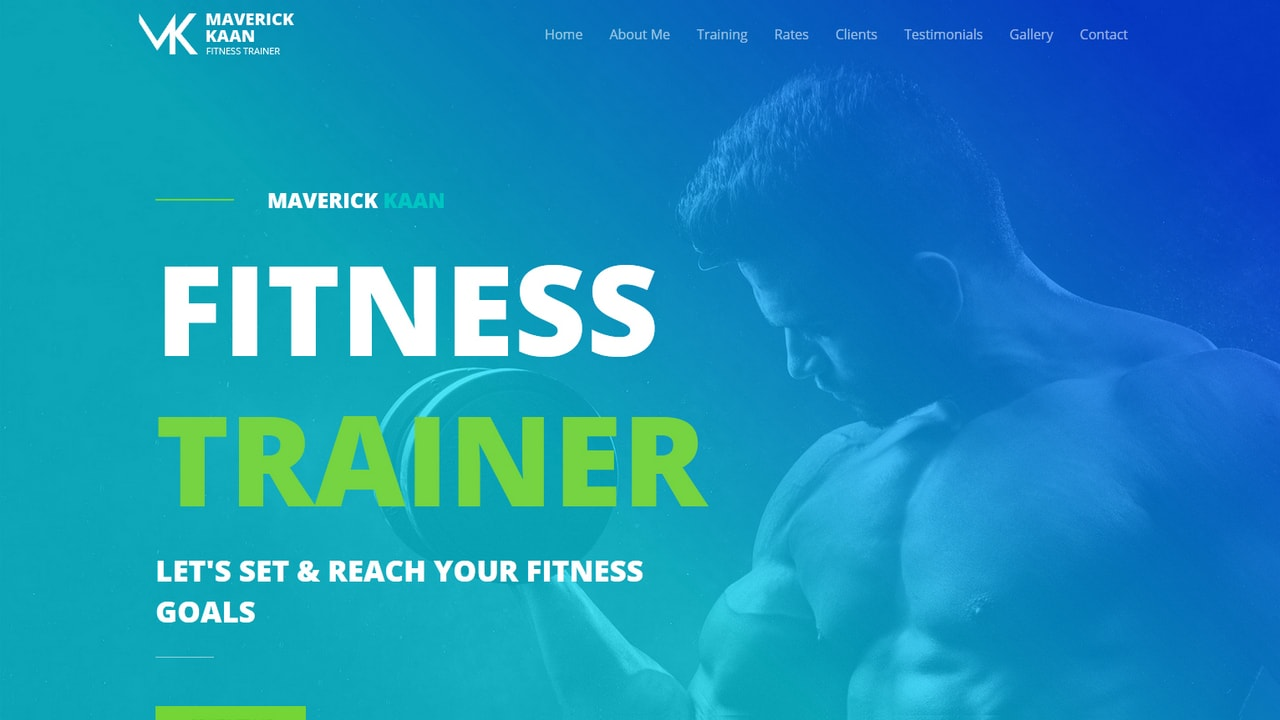 Fitness Trainer - Male - Home Page 1280 x 720