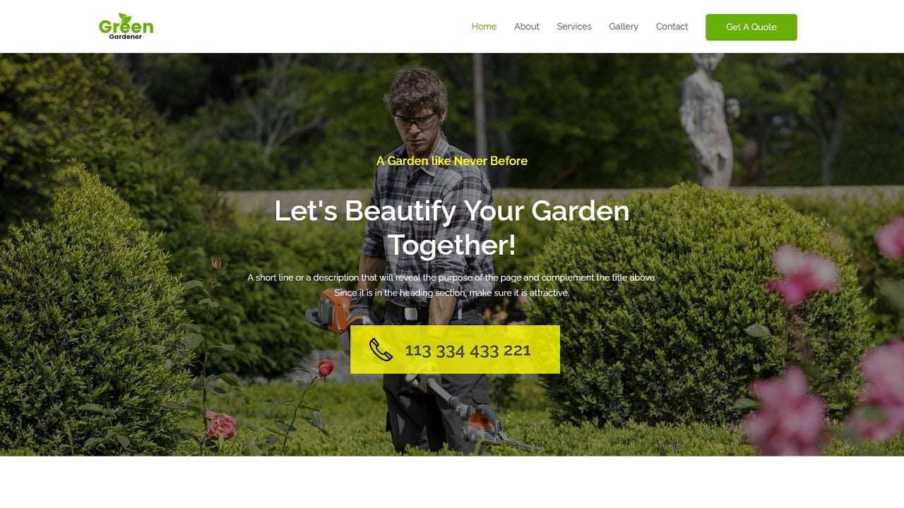 Gardening and Landscaping - Home Page 1280 x 720