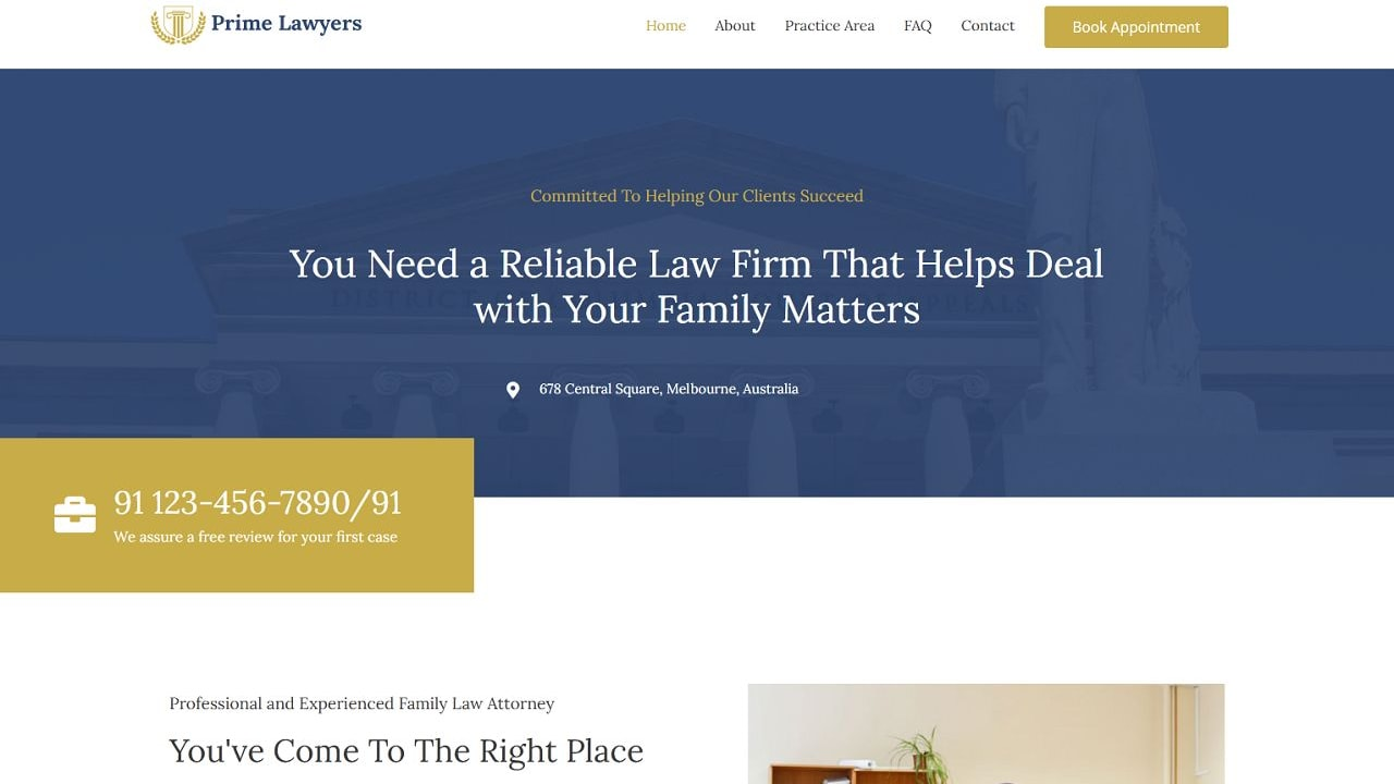 Lawyer - Multipurpose - Home Page 1280 x 720