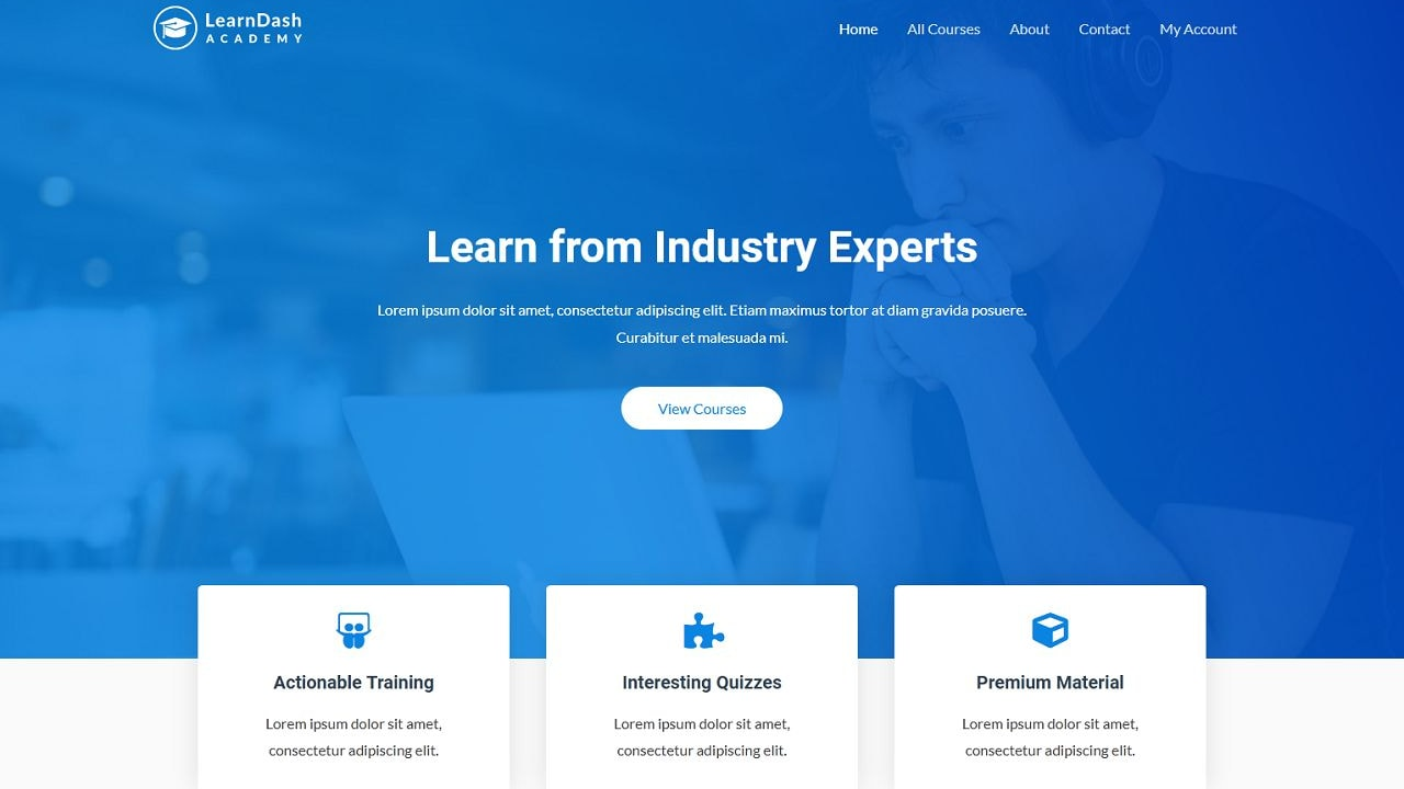 Learndash - Online Coach - Home Page 1280 x 720