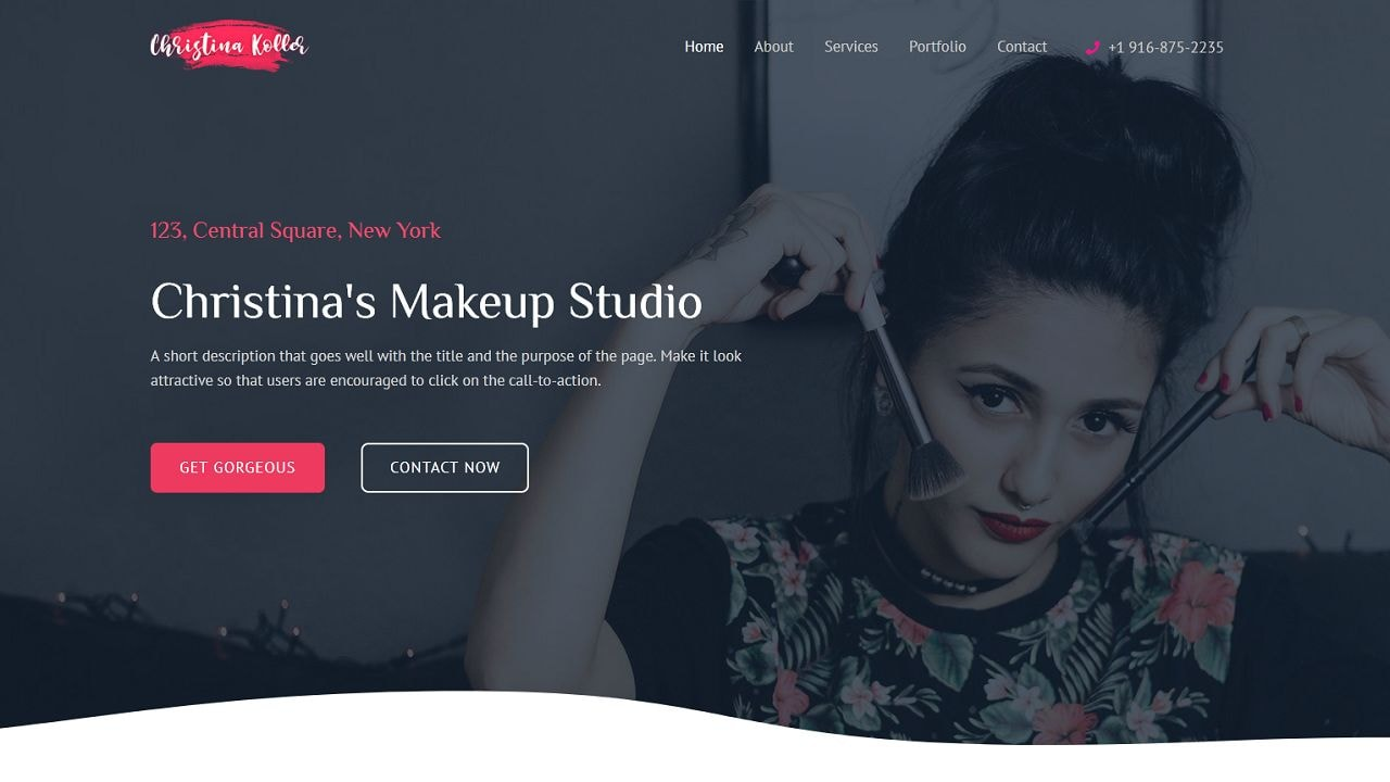 Makeup Artist - Multipurpose - Home Page 1280 x 720