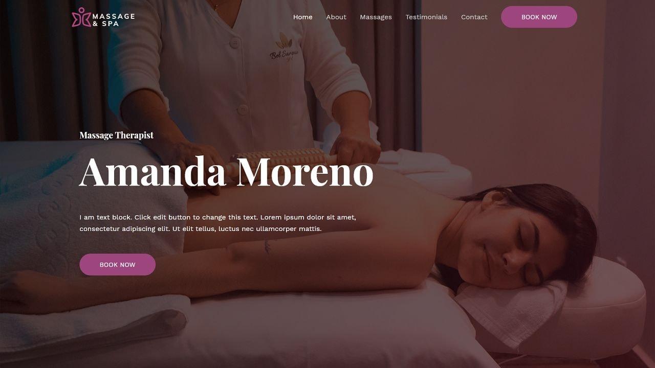 Massage Therapist - Home Page 1280 x 720
