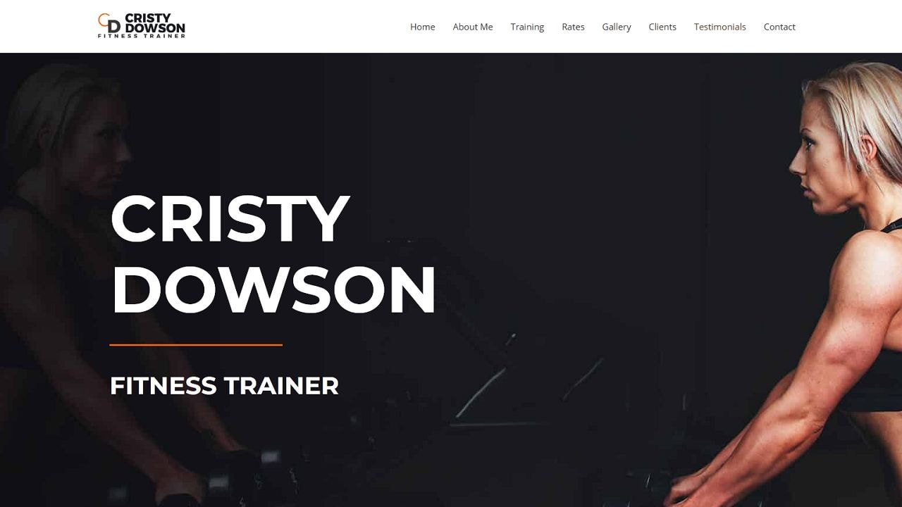 Personal Fitness Trainer - Female - Home Page 1280 x 720