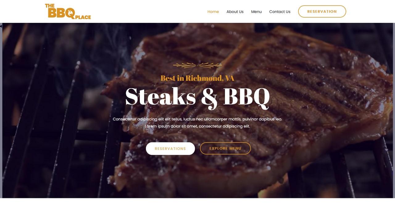 Restaurant - BBQ Steak - Home Page 1280 x 720
