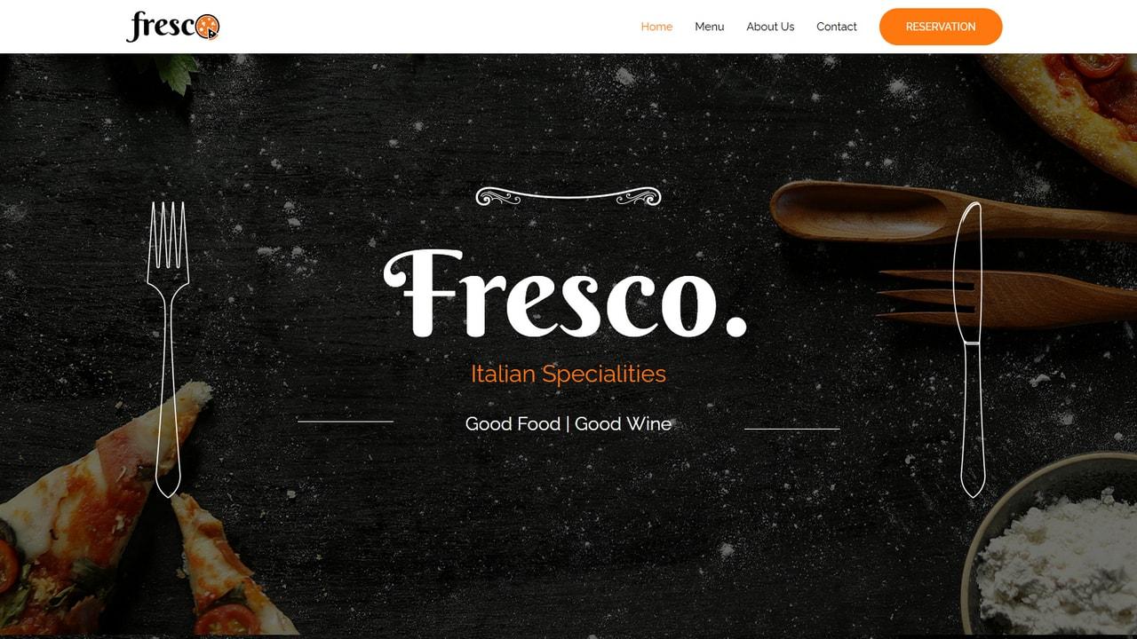 Restaurant - Italian - Home Page 1280 x 720
