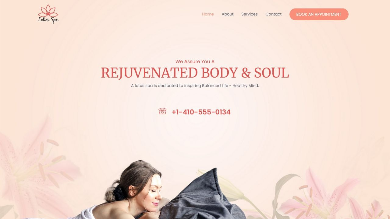 Spa A - Multipurpose - Home Page 1280 x 720