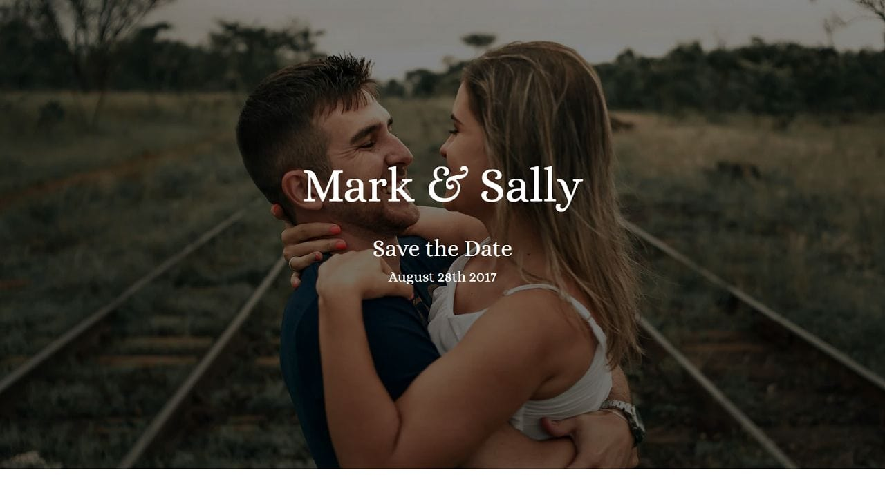 Wedding Invitation 1 Multipurpose - Home Page 1280 x 720