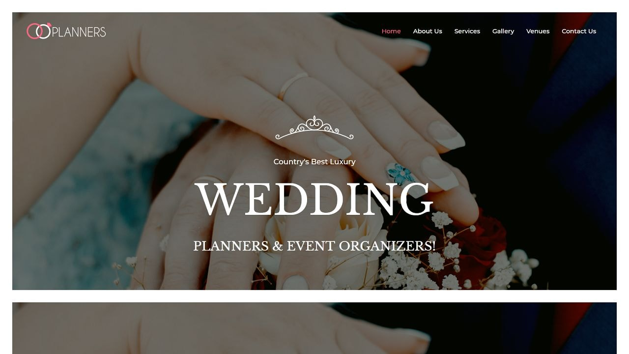 Wedding Planner - Multipurpose - Home Page 1280 x 720