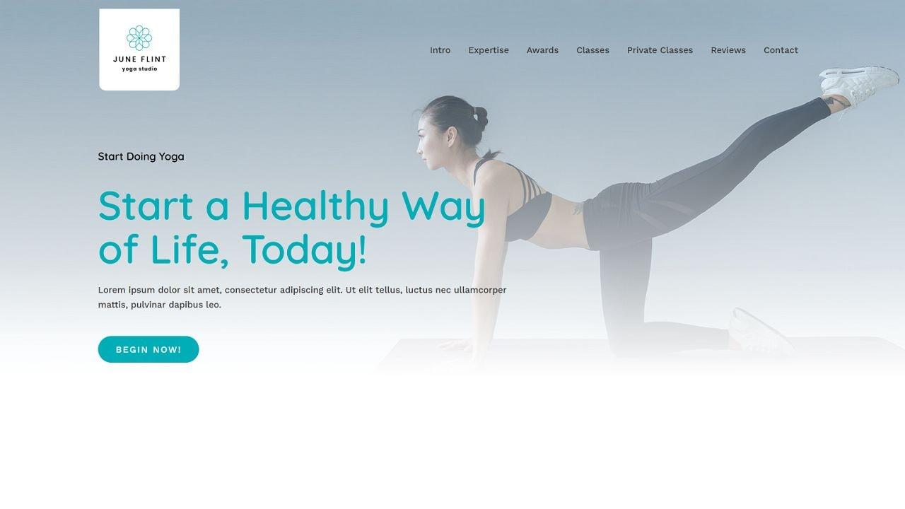 Yoga Studio - Home Page 1280 x 720