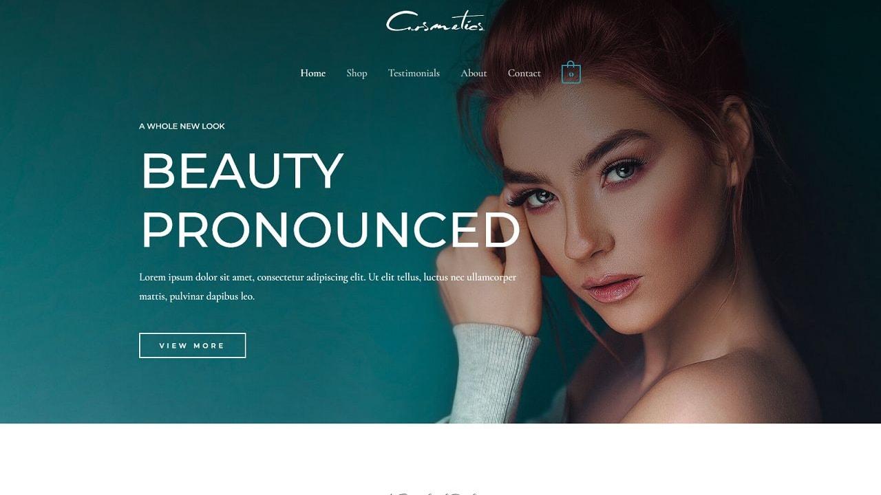 eCom Cosmetics Shop - Multipurpose - Home Page 1280 x 720