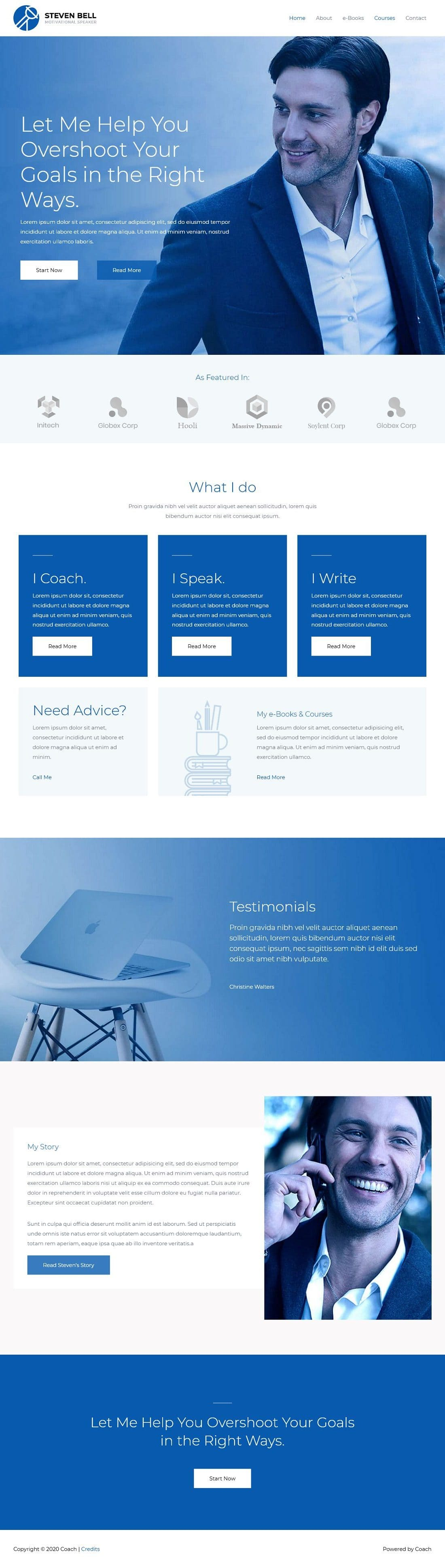 Coach A - Multipurpose - Home Page 1280 x 3867