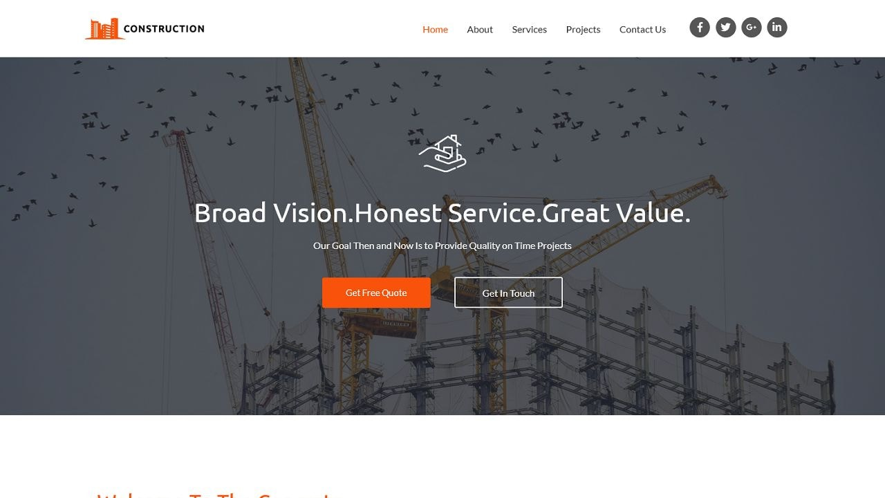 Construction S - Home Page 1280 x 720