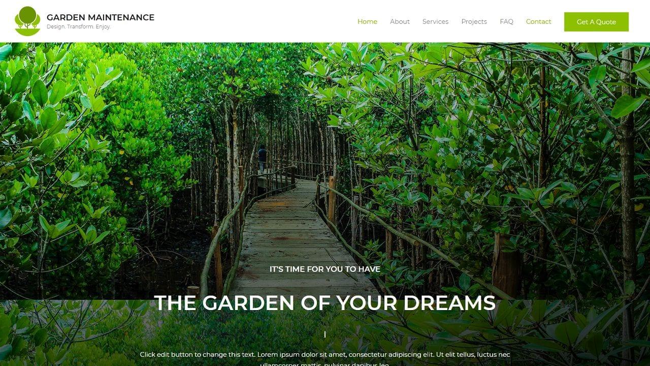 Garden Maintenance - Home Page 1280 x 720