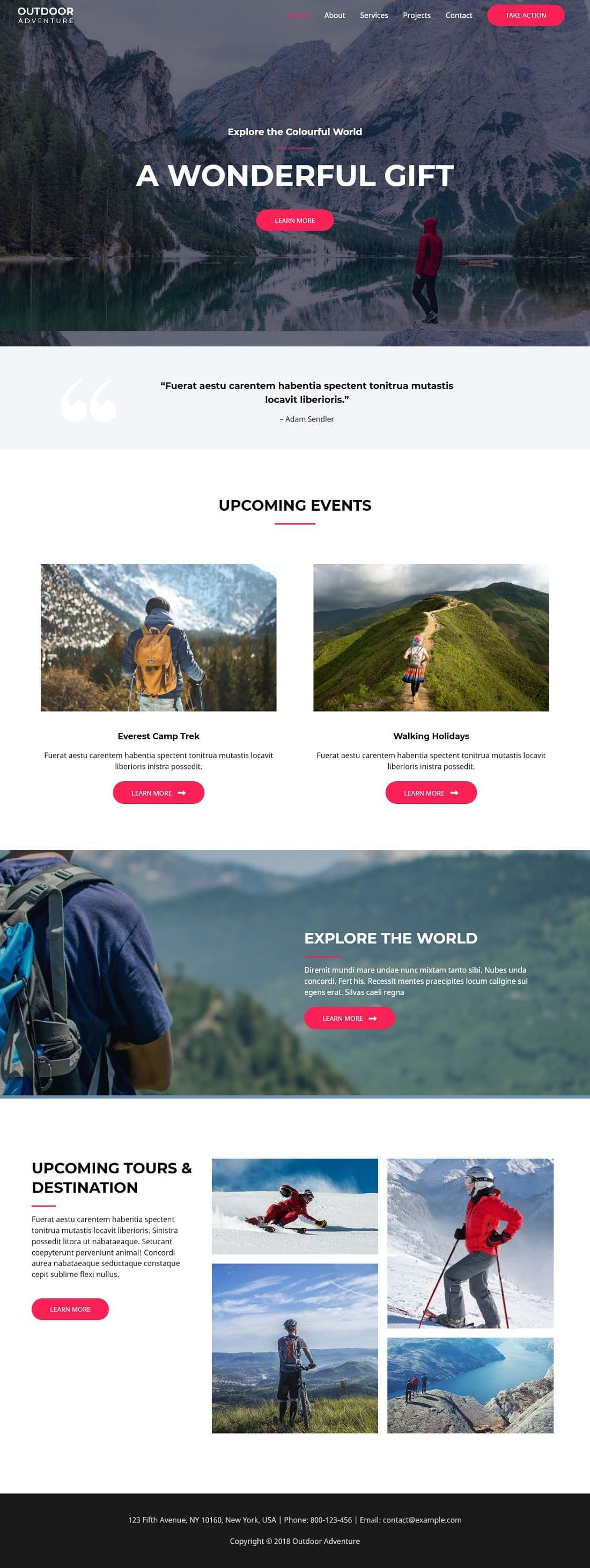 Outdoor Adventure A - Multipurpose - Home Page 1280 x 2920