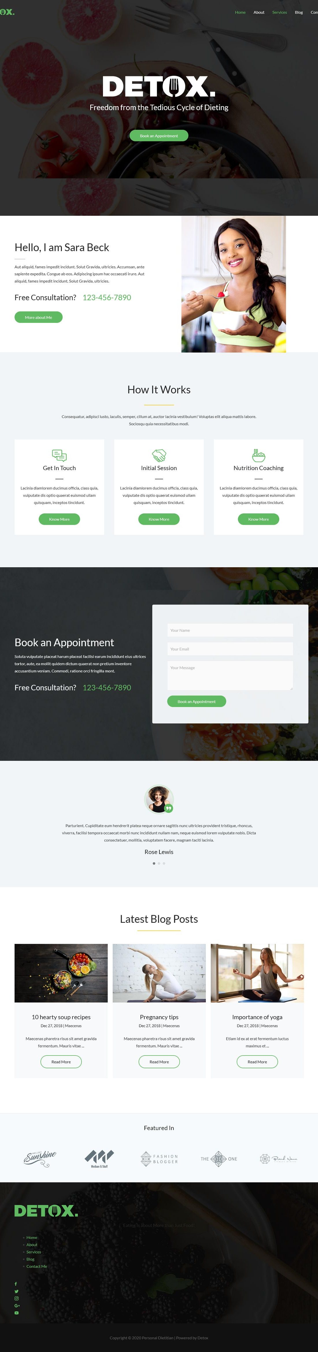 Personal Dietician A Home Page 1280 x 4674