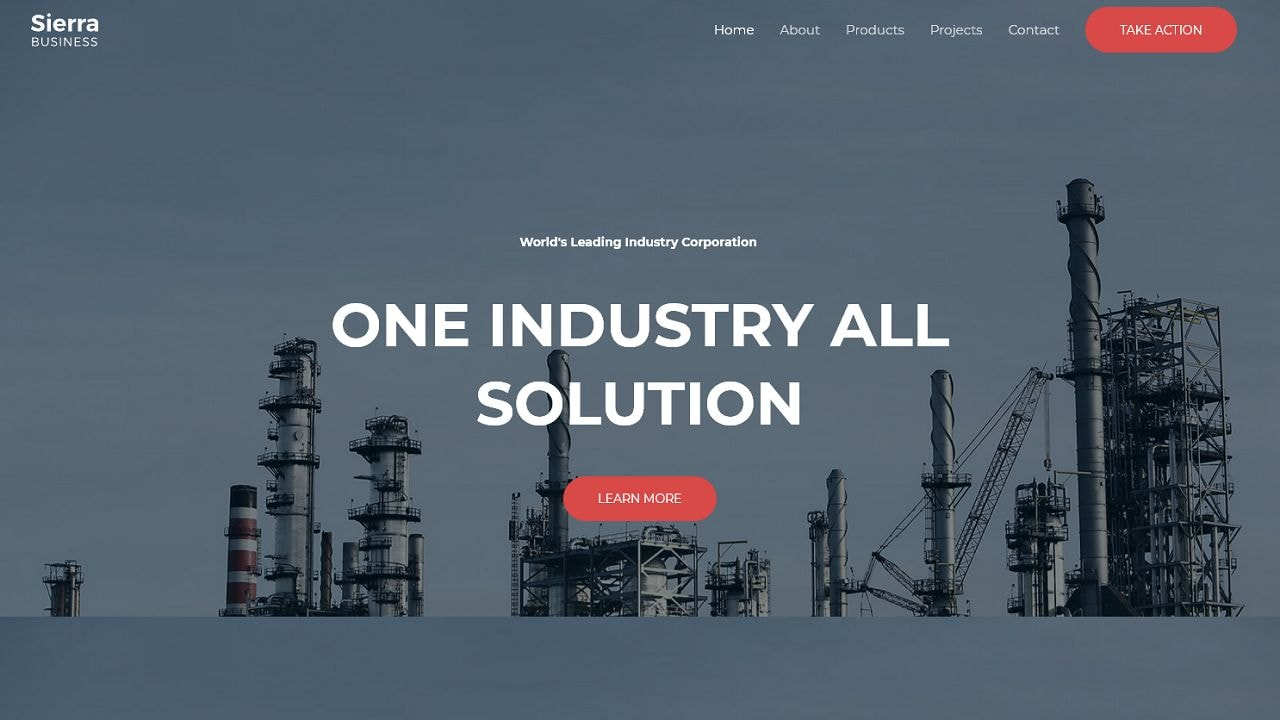 Sierra Industry - Multipurpose - Home Page 1280 x 720