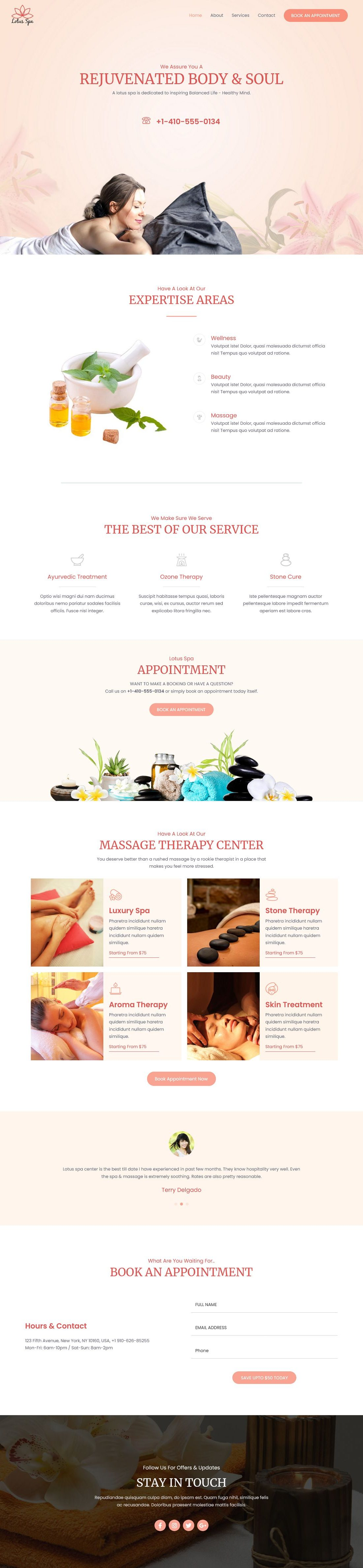 Spa A - Multipurpose - Home Page 1280 x 4753