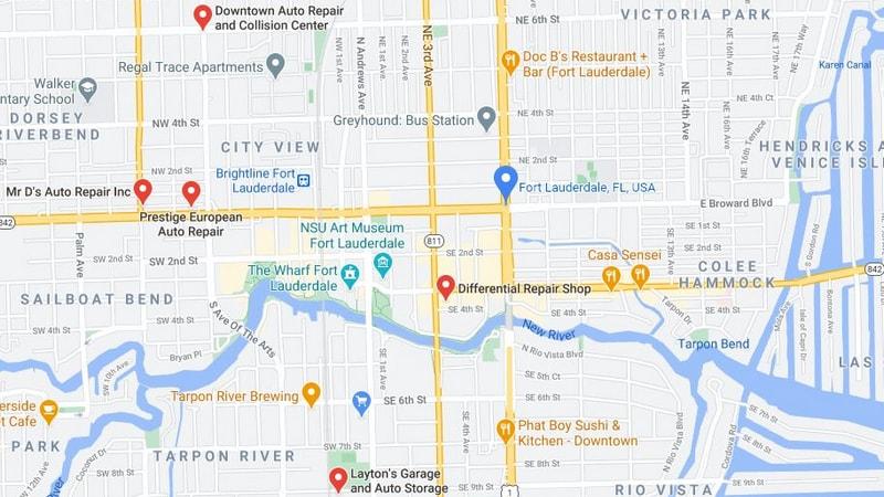Street Map Generic Ft Lauderdale 800 x 450