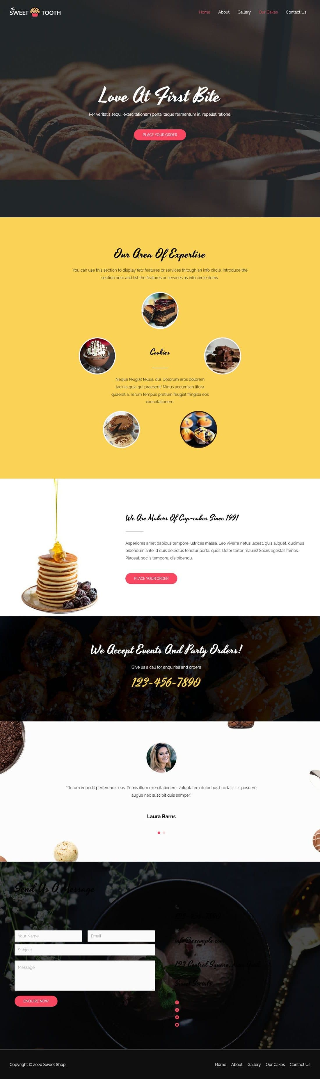 Sweet Shop Bakery Cakes A - Multipurpose - Home Page 1280 x 3703