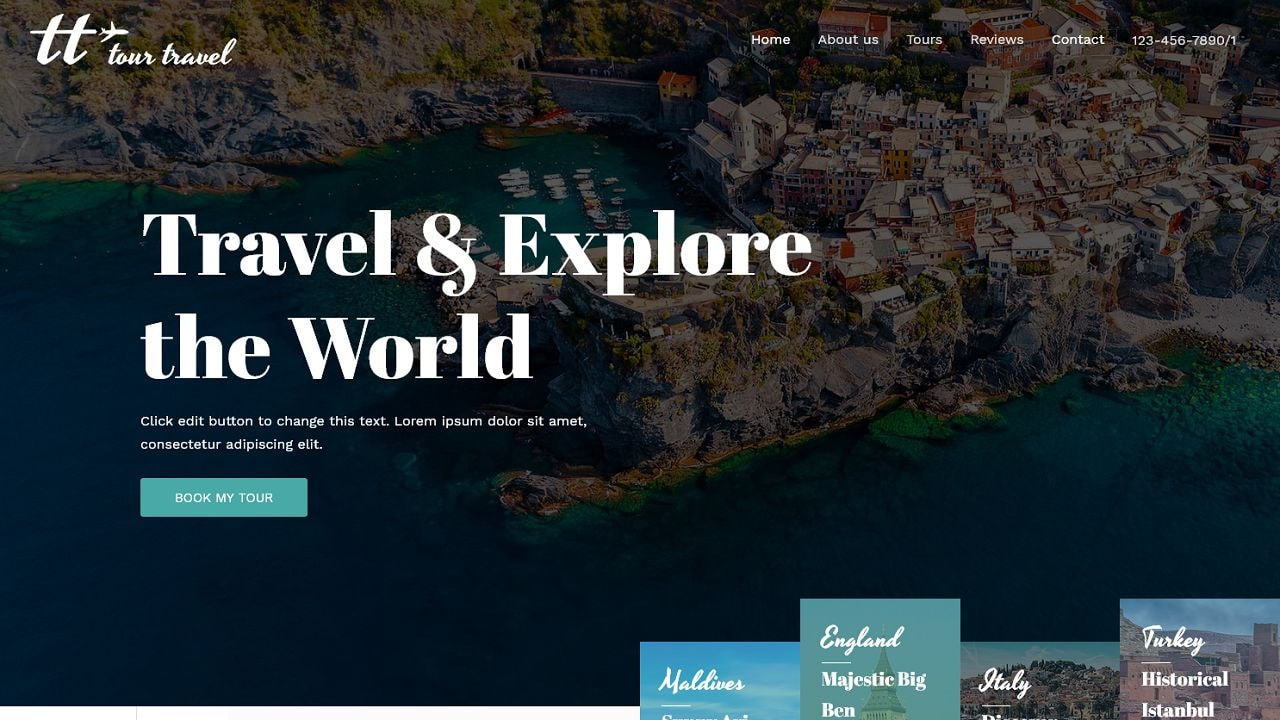 Travel Agency A Home Page 1280 x 720