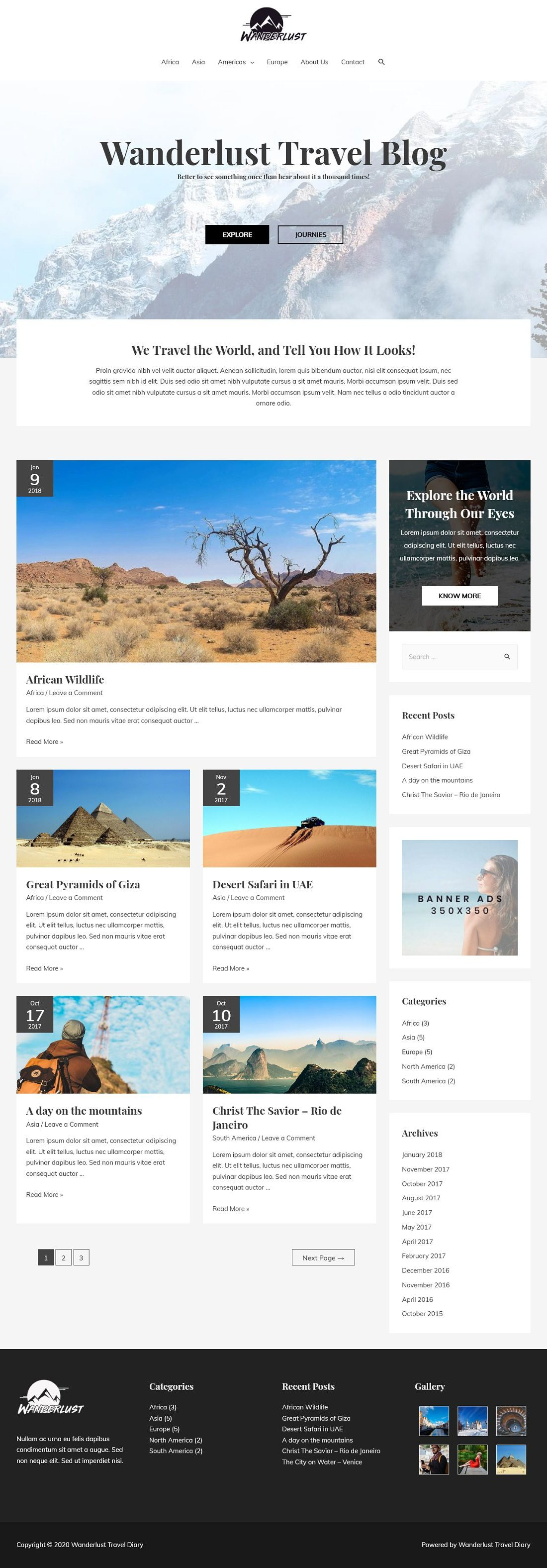 Wanderlust Travel Blog A Home Page 1280 x 3151