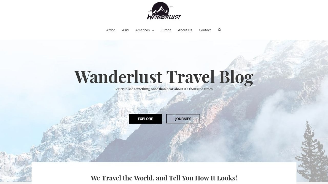 Wanderlust Travel Blog A Home Page 1280 x 720