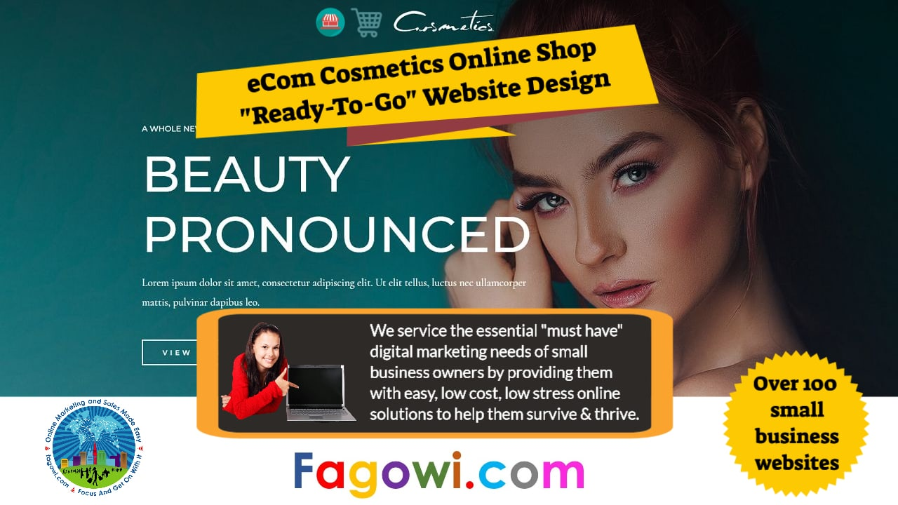 eCom Cosmetics Online Shop Astra Website Video Thumbnail 1280 x 720