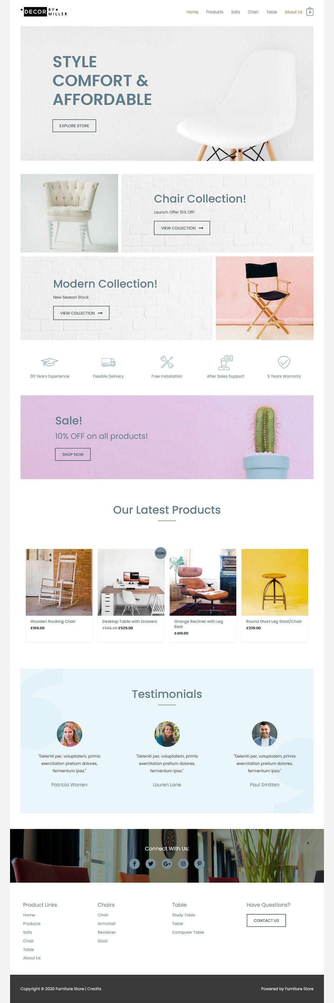 eCom Furniture Store - Multipurpose - Home Page 1280 x 3301