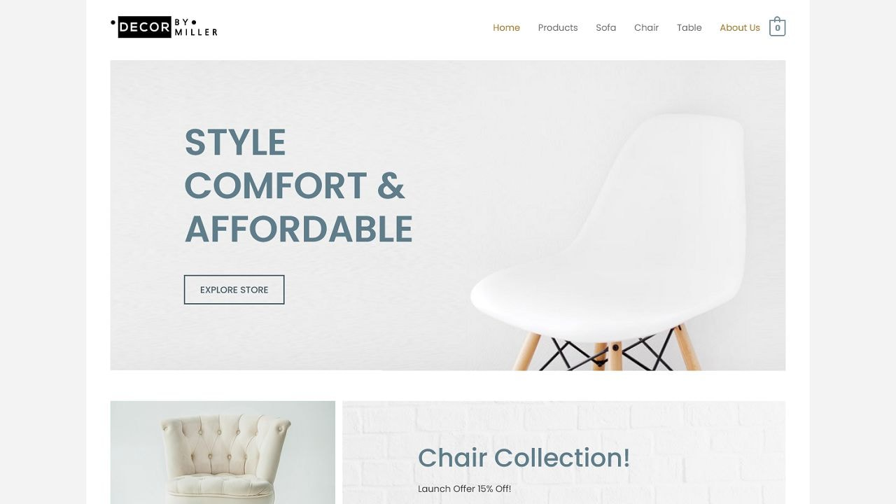 eCom Furniture Store - Multipurpose - Home Page 1280 x 720