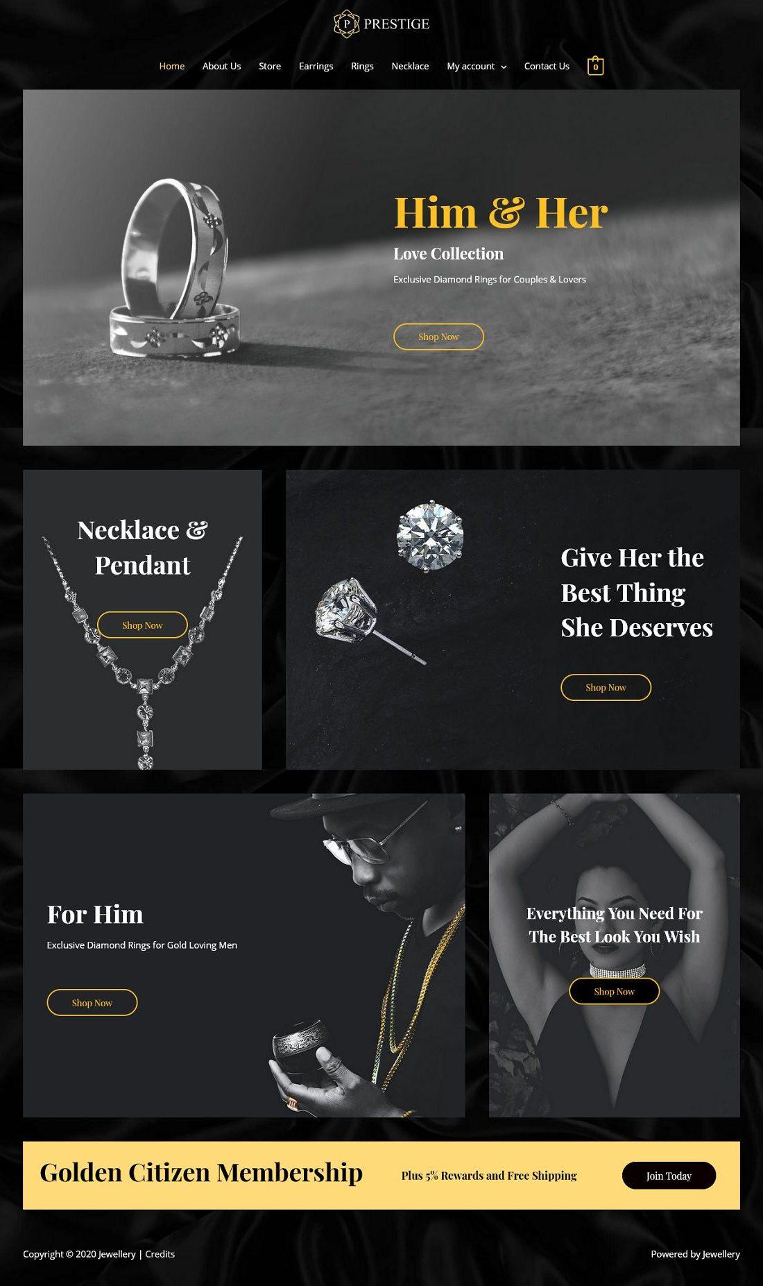 eCom Jewellery Store - Multipurpose - Home Page 1280 x 1853
