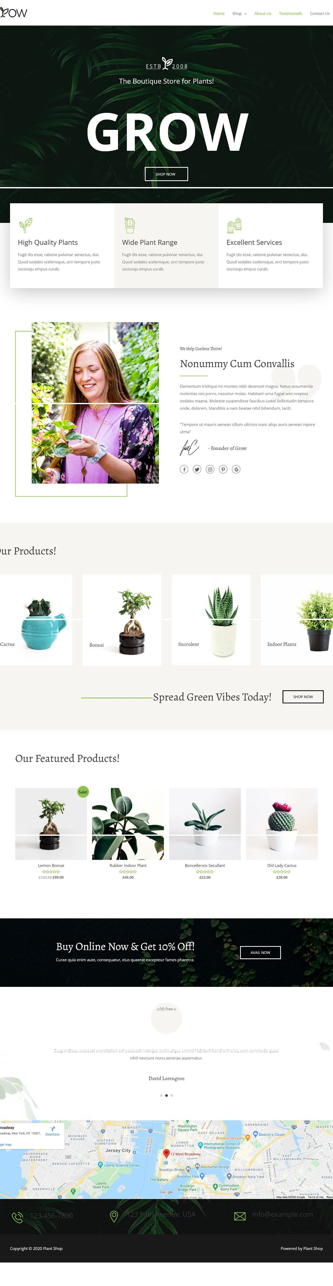 eCom Plant Shop - Multipurpose - Home Page 1280 x 4239