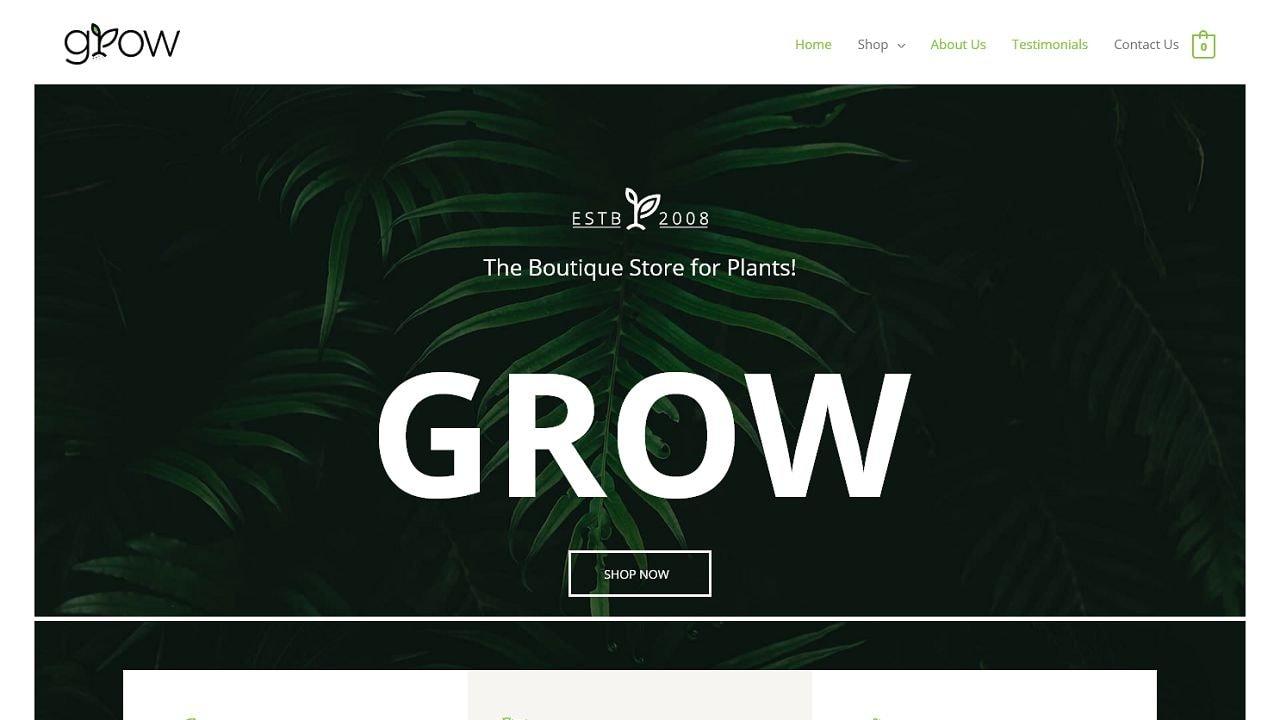 eCom Plant Shop - Multipurpose - Home Page 1280 x 720