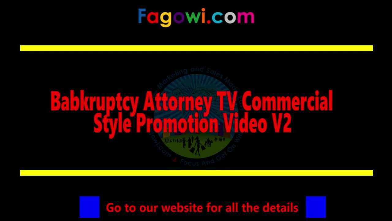 Bankruptcy Attorney V2 Thumbnail Example By Fagowi Spokesperson Video 1280 x 720 Compressed