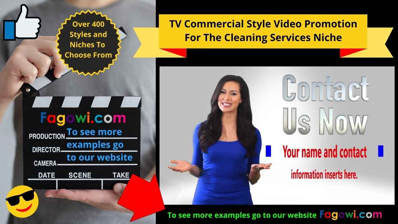 Cleaning Service Canva Thumbnail Example By Fagowi Spokesperson Video 1280 x 720