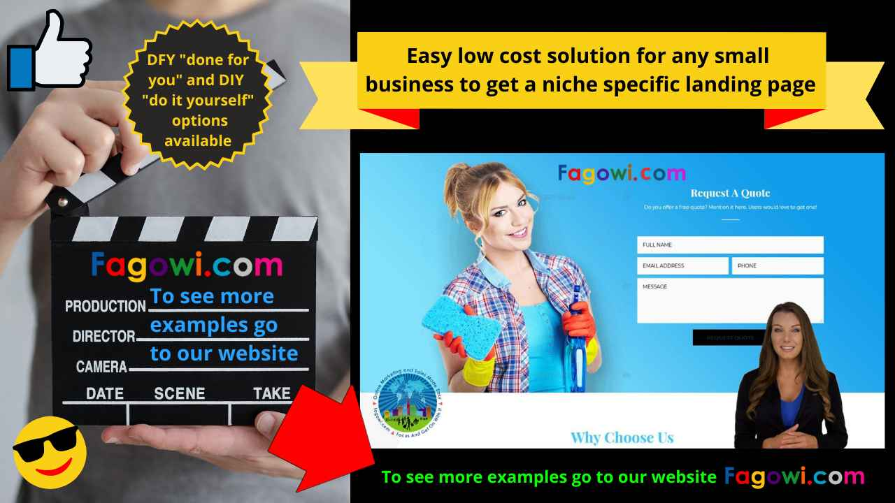 Thumbnail For Fagowi Small Business Landing Page Designs Page YT Video 1280 x 720